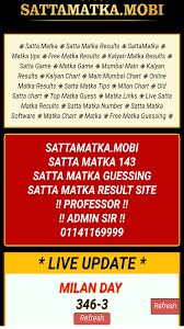Mumbai Game Chart Satta Matka Result