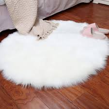 soft artificial sheepskin rug chair cover bedroom mat artificial wool warm carpet seat wool warm textil fur area rugs 30x30cm white worldwide free