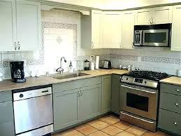 painting oak cabinets gray painting oak cabinets grey gray chalk painted kitchen honey painting oak kitchen