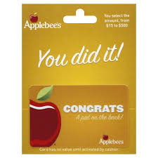 applebees gift card congrats 15 to 500