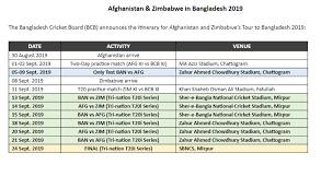 Afghanistan Bangladesh Zimbabwe T20 Tri Series Schedule