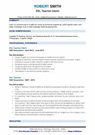 Summer Internship Resume Examples Esl Teacher Resume Samples Qwikresume
