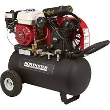 gas air compressor. free shipping \u2014 northstar portable gas-powered air compressor honda 163cc ohv engine, 20-gallon horizontal tank, 13.7 cfm @ 90 psi | gas powered