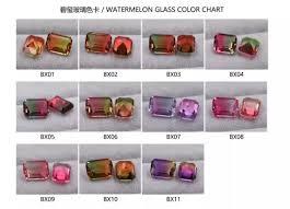 Tourmaline Color Chart Tourmaline Color Glass Gemstones China Wholesale And