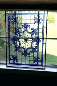 stained glass panels style window panel large patterns framed beveled leaded l