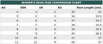 Whats My Size International Clothing Shoe Size
