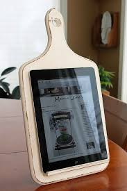 diy kitchen ipad stand this cool ipad holder is made from an old wooden kitchen