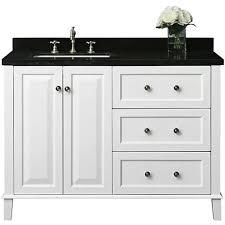 Hannah White 48 Left Sink Vanity Lamps Plus41