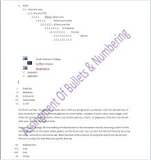 Assignment of ms word