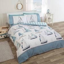 further description rapport sail away reversible stripe striped duvet cover bedding set blue white