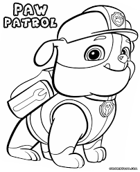 Inspirational Of Rubble Paw Patrol Coloring Page Pictures
