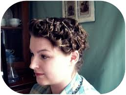 Pin Curl Hair Style tutorial basic pin curls vavoom vintage with brittany 7660 by stevesalt.us