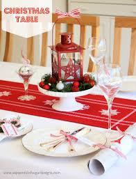 Christmas Table Setting Our Christmas Table A Spoonful Of Sugar