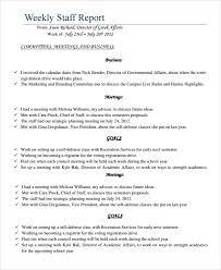 How To Write A Weekly Report Template Sample Staff Report Template 6 Documents In Pdf