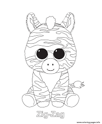 Small Picture Zig Zag Beanie Boo Coloring Pages Printable