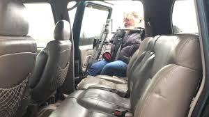 Multi-Lift entering 1996 Chevrolet Suburban passenger rear ...