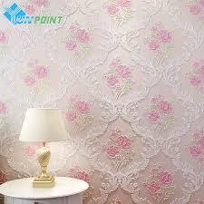 Pink Wallpaper For Bedrooms Online Buy Wholesale Pink Rose Wallpaper From China Pink Rose