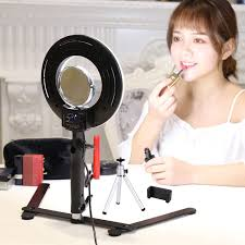 Selfie Ring Light For Makeup Table Top Photo Led Selfie Ring Light With Desktop Stand For