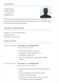 Short Resume Template Short Resume Examples Short Easy Resume