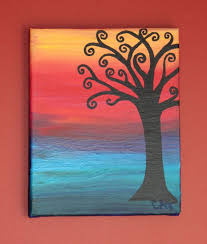 Easy paintings on canvas Thereadingwench Easy Canvas Painting Ideas Bored Art 30 Easy Canvas Painting Ideas