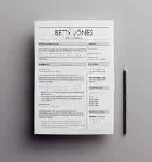 Microsoft Professional Resume Templates Resume Template The Betty resume design cv template 74
