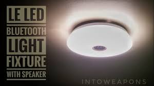 Led Ceiling Light With Bluetooth Speaker Install Review