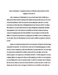 alice in wonderland a comparison between the novel by lewis  page 1 zoom in