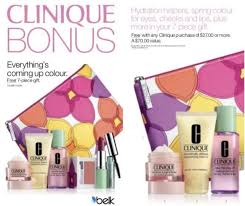 clinique s gift with purchase offer february 6 28 at belk free with any 27 00 clinique purchase while supplies last