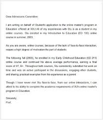Intro To Recommendation Letter Dear Admissions Committee Recommendation Letter Magdalene