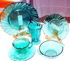 colored glass dinner plates turquoise depression glass colored glass dinnerware plates