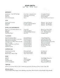 Dancer Resume Template Extraordinary Dance Resume For College Dance Resume Template Audition Download