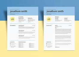 Simple Resume Template Psd | Graphiceat