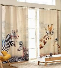 zebras or giraffes nursery or kid s room window curtain panel triple woven light blocking fabric custom curtain made to order by hereisthe