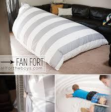 sheet fan fan fort all for the boys