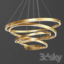 large rings led pendant lights