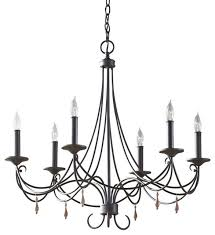 6 light iron chandelier