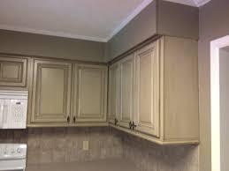Painted Glazed Kitchen Cabinets Restain Oak Kitchen Cabinets
