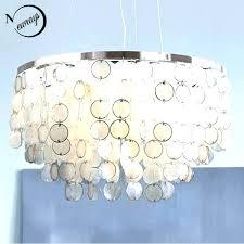 sea shell lighting seashell lamp regarding prepare architecture hanging vintage capiz inch table set o