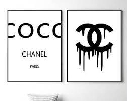 chanel logo. coco chanel prints logo wall art fashion posters u