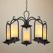 hanging candle lamps lighting wall mounted holders chandelier wrought iron candelabra non electric large can