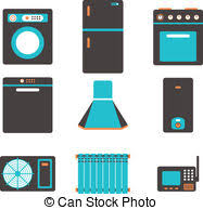 kitchen appliances clipart. Exellent Appliances Household Appliances Icons Set Of Kitchen Equipment On A  Clipart On Kitchen Appliances L