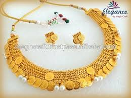 south indian temple laxmi coin necklace set whole ing traditional jewelry set bridal
