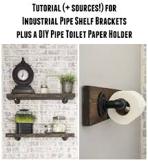 diy rustic wood shelves diy toilet paper holder made with plumbing pipe hardware