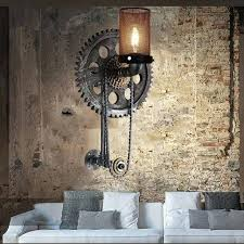 pipe wall sconce loft vintage water chain bra diy black pipe wall sconce