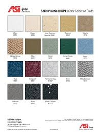 Bobrick Phenolic Color Chart Color Cards Accessible Construction Supply