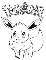 Tô màu Pokemon Eevee - Trang Tô Màu Cho Bé