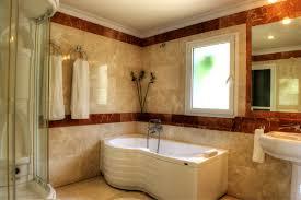 Bathroom:Creativ Batroom With Black Marble Bathrooms Ideas Sweet Bathroom  With White Bathtub Also Brown