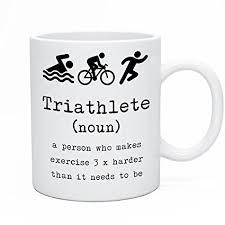 sayomen triathlete tea coffee mug triathlon tea coffee mug triathlon gift idea