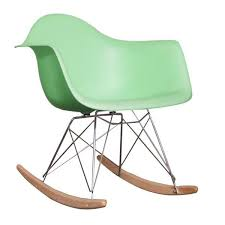 eames rocking chair green. black friday deal / charles ray eames style rar rocking chair - pepper \u2013 s.alternative furniture green
