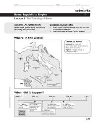 Venn Diagram Of Roman Republic And Roman Empire Rome Workbook Lessons 1 4
